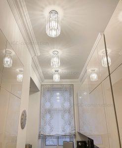 Дизайн потолка на кухне заказать установить