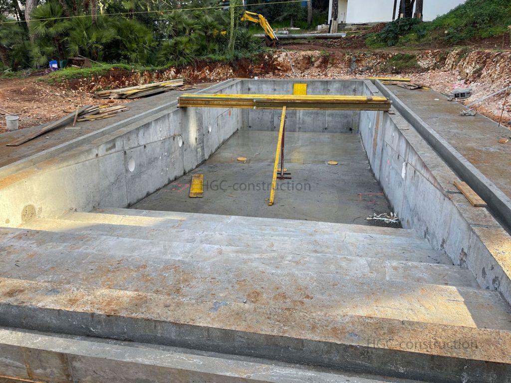 Расчет лестницы в бассейн для мозаичного покрытия